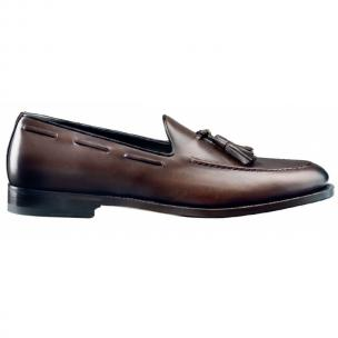 Santoni Ashby Calfsin Tassel Loafers Dark Brown Image