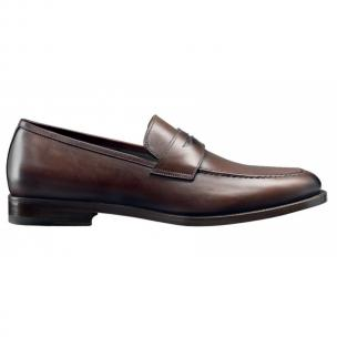 Santoni Atwater Calfskin Penny Loafers  Image