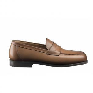 Santoni Beamon Goodyear Welted Penny Loafers Tan Image