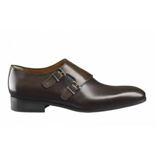 Santoni Belden Double Monk Strap Shoes Dark Brown Image