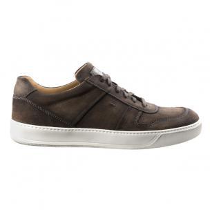 Santoni Birch YS2 Suede Sneakers Brown Image
