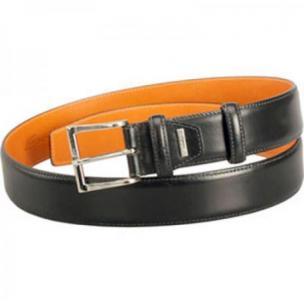 Santoni Black Calfskin Belt Black AA3E Image