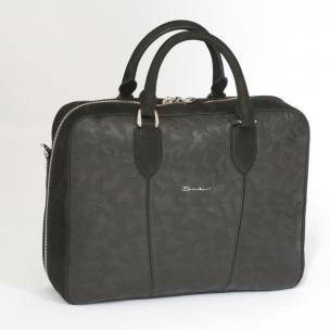 Santoni Camoflauge Embossed Leather Briefase Image