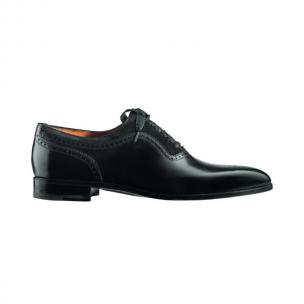 Santoni Canton VS1 Medallion Toe Oxfords Black Image