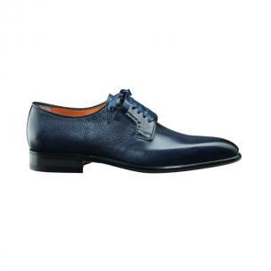 Santoni Chelsey M6 Plain Toe Bluchers Blue Image