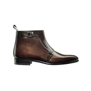 Santoni Ciro SH3 Double Monk Strap Boots Dark Brown Image