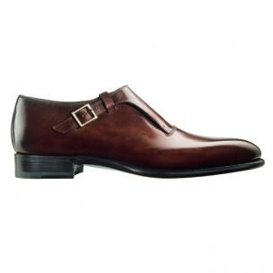 Santoni Clayton 4 Goodyear Welted Monk Strap Shoes Rust Image