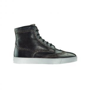 Santoni Cornel P3 Wingtip Sneakers Boots Dark Brown Image