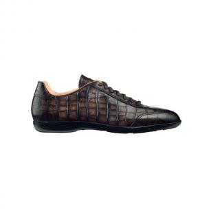 Santoni Cortez A3 Croco Sneakers Dark Brown Image
