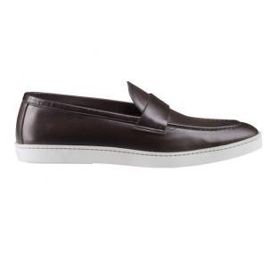 Santoni Dane N3 Casual Loafers Dark Brown Image