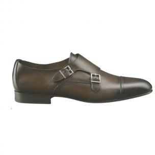 Santoni Darby Double Monk Strap Shoes Dark Brown Image