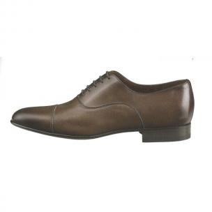 Santoni Darian Hand Antiqued Cap Toe Shoes Brown Image