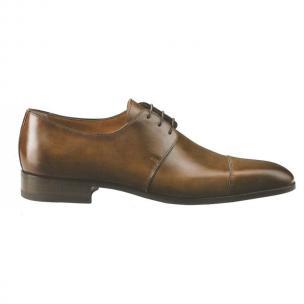 Santoni Darwin Hand Antique Cap Toe Shoes Brown Image