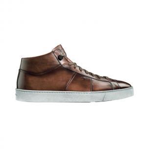 Santoni Denali TQ2 Calfskin High Top Sneakers Brown Image
