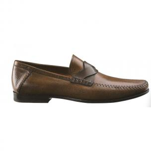 Santoni Devan Woven Strap Loafers Brown Image