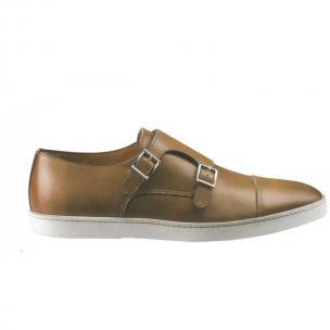 Santoni Donato N5 Double Monk Strap Sneakers Tan Image