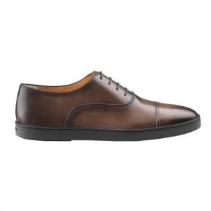 Santoni Durbin D3 Cap Toe Casual Shoes Dark Brown Image