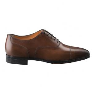 Santoni Eamon 2 Cap Toe Oxford Brown Image
