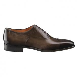 Santoni Elon 3 Cap Toe Bal Oxfords Dark Brown Image