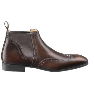 Santoni Elonzo G3 Wingtip Boots Dark Brown Image