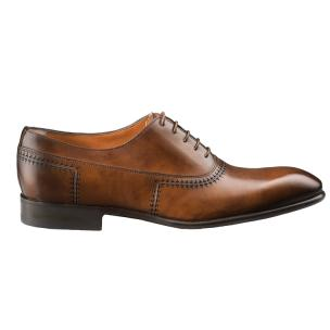 Santoni Emanuel 5 Plain Toe Oxfords Tan Image