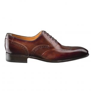 Santoni Enrico 2 Medallion Toe Wingtip Oxfords Brown Image