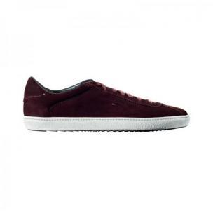Santoni Escolar S4 Suede Sneakers Burgundy Image