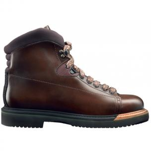 Santoni Everest Calfskin Hiking Boots Dark Brown Image
