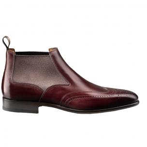 Santoni Ezra 4 Wingtip Beatles Boot Burgundy Image