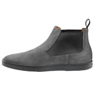 Santoni Suede Boots Gray Image