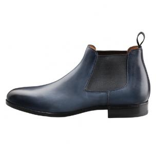Santoni Gunther Beatle Boot Black Blue Image