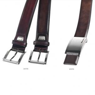 Santoni Hand Antiqued Calfskin Belts Image