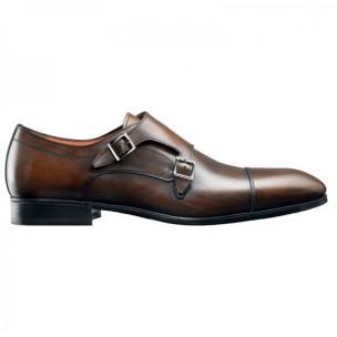 Santoni Upton Hand Antiqued Monk Strap Shoes  Image