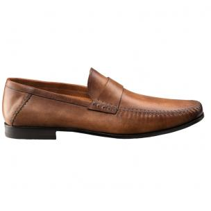 Santoni Paine M5 Strap Loafers Tan Image