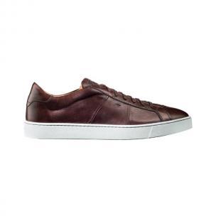 Santoni Peyton 4 Calfskin Sneakers Burgundy Image