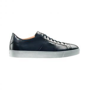 Santoni Peyton 6 Calfskin Sneakers Blue Image