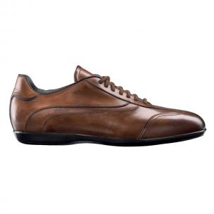 Santoni Pike Baby Calfskin Sneakers Brown Image