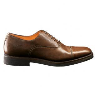 Santoni Shoes Quoit 5 Cap Toe Shoes Tan Image