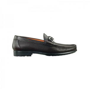 Santoni Sam L3 Side Buckle Loafers Dark Brown Image