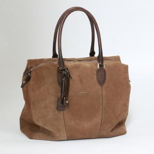 Santoni Suede Weekender Bag Brown Image