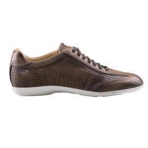 Santoni Tailor W2 Embossed Leather Sneakers Brown Image