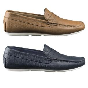 Santoni Tanton P5 / P6 Pebble Grain Driving Loafers Image