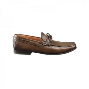 Santoni Tennant 5 Twist Tie Loafers Tan  Image