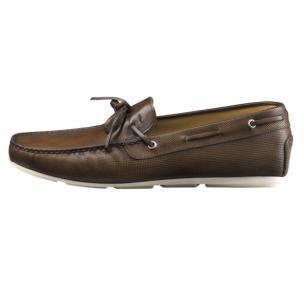 Santoni Toft FS3 Twist Tie Driving Shoes Dark Brown Image
