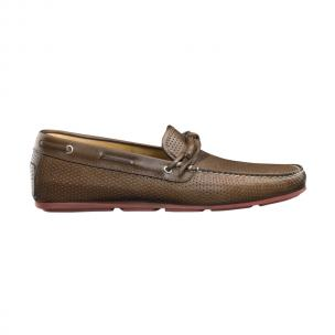 Santoni Toft Perforated Bow Tie Driving Shoes  Image