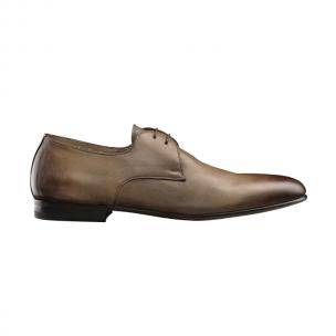 Santoni Trail Plain Toe Blucher Oxfords Taupe Image