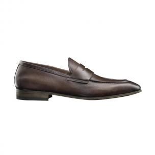 Santoni Tristan Hand Antiqued Penny Loafers Image