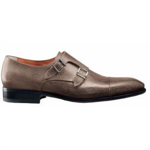 Santoni Truman SP5 Double Monk Strap Shoes Tan Image