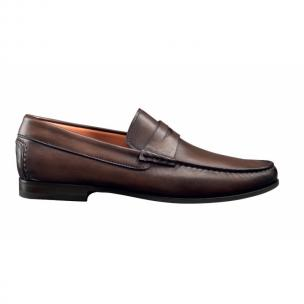 Santoni Turner Penny Loafers Brown Image