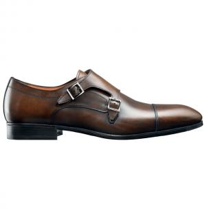 Santoni Monk Strap Shoes Antique Brown Image